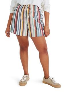 Madewell Rainbow Stripe Smocked Pull-On Shorts