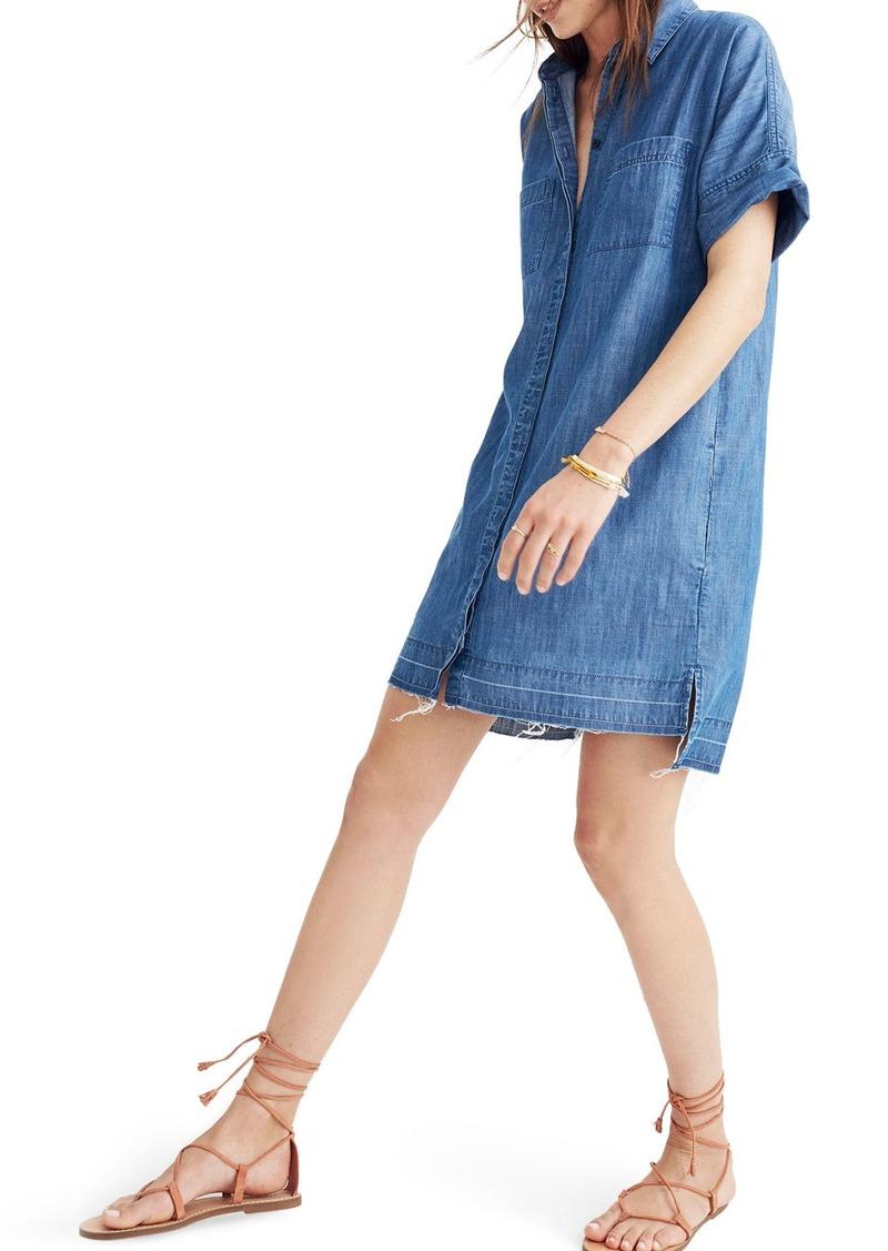 e605fc4b737 Madewell Madewell Raw Edge Denim Shirtdress