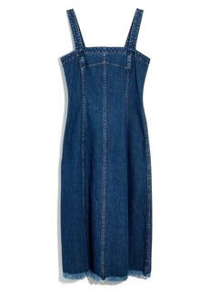 Madewell Raw Hem Seamed Denim Dress