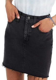 Madewell Raw-Hemmed Edition: Stretch Denim Straight Mini Skirt
