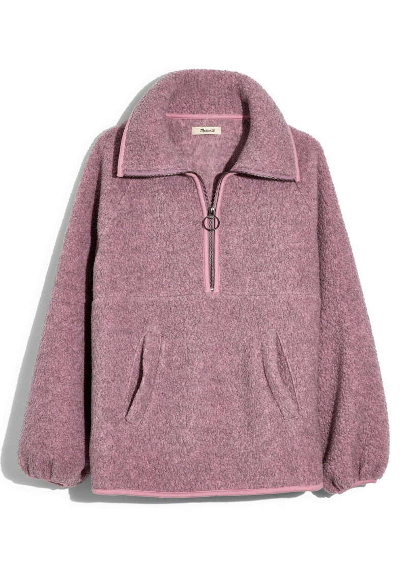 Madewell Recycled Polartec® Fleece Pullover Jacket