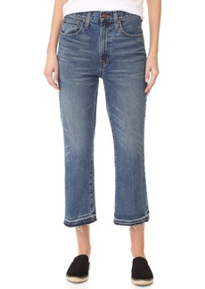 Madewell Relaxed Crop Flare Jeans with Let Down Hem