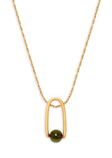 Madewell Resin Pinball Pendant Necklace