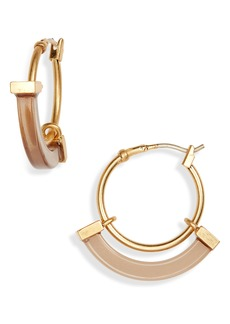 Madewell Resin Sliding Hoop Earrings