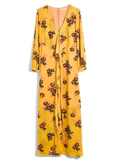 Madewell Retro Bouquet Wraparound Maxi Dress