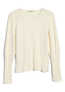 Madewell Ribbed Bubble Sleeve Top