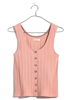Madewell Ribbed Button Front Tank
