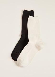 Madewell Ribbed Trouser Socks 2 Pack