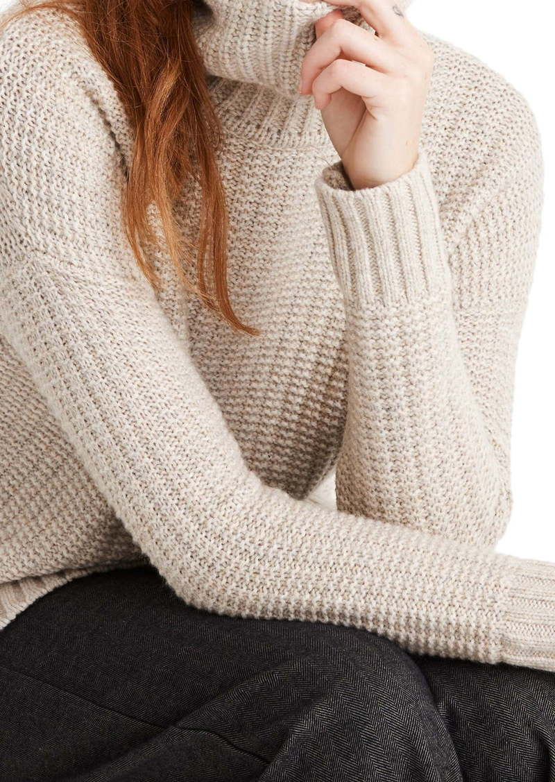 Madewell Ribbed Turtleneck Tunic Sweater