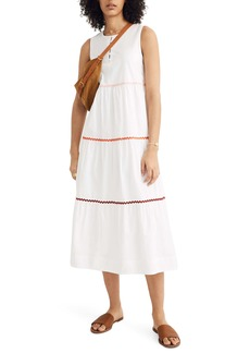 Madewell Rickrack Cattail Tiered Dress