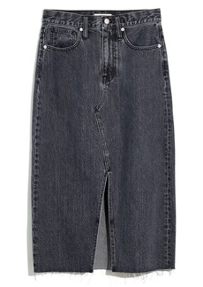 Madewell Rigid Denim A-Line Mini Skirt