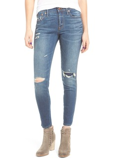 Madewell High Waist Skinny Jeans: Ripped & Patched Edition (Marion)