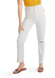 Madewell Ripped Edition High Waist Mom Jeans (Tile White)