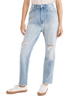 Madewell Ripped Edition Mom Jeans (Gilford Wash)