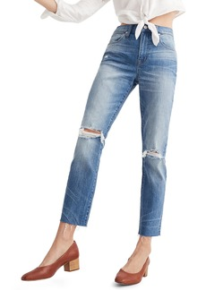 Madewell Ripped High Waist Slim Boyfriend Jeans (Burt)