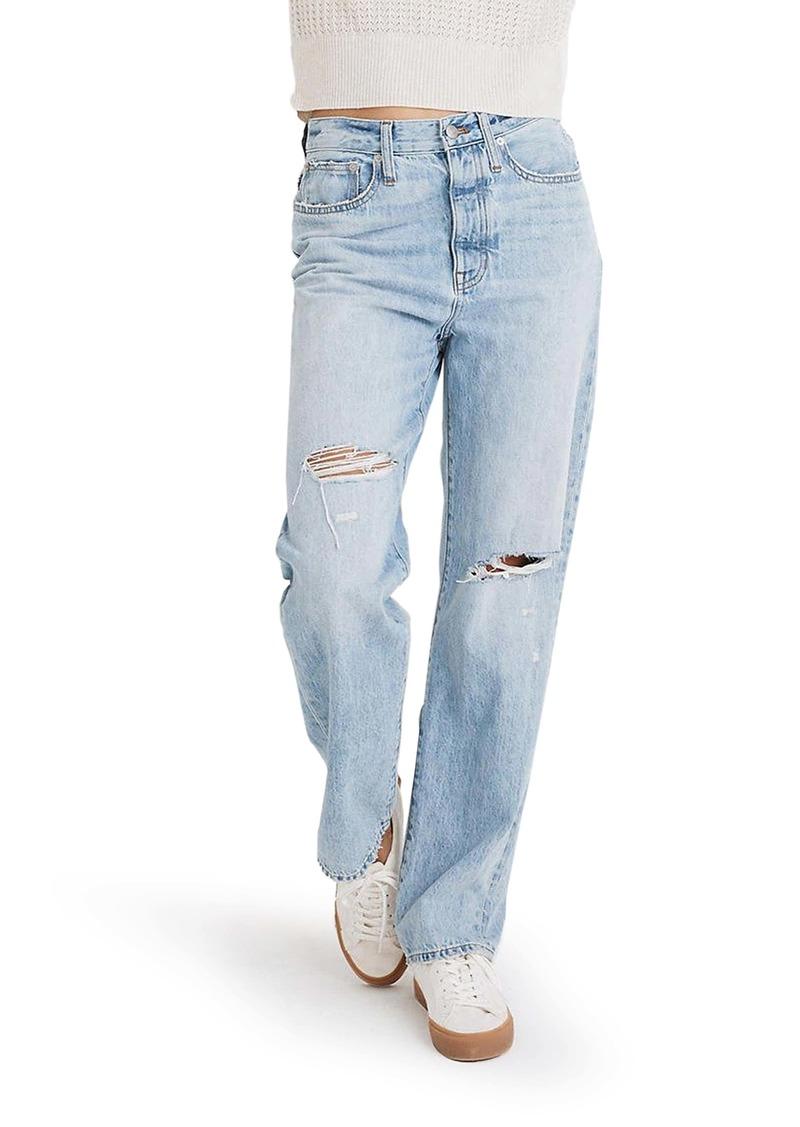 Madewell Ripped Straight Leg Dad Jeans (Millman)