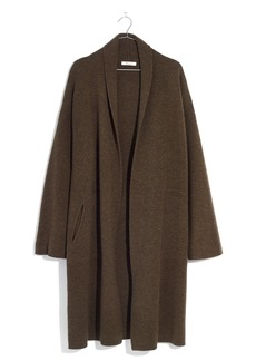 Madewell Rivington Shawl Collar Merino Wool Sweater Coat