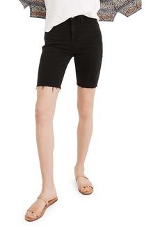 Madewell Roadtripper Denim Biker Shorts (Lunar Wash)