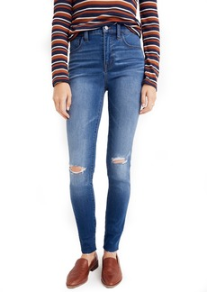 Madewell Roadtripper Ripped High Waist Ankle Skinny Jeans (Lewis)
