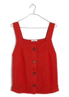 Madewell Rowe Button Front Sweater Tank