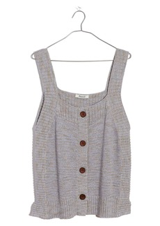 Madewell Rowe Marled Button Front Sweater Tank