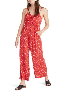 Madewell Ruched Wide Leg Jumpsuit