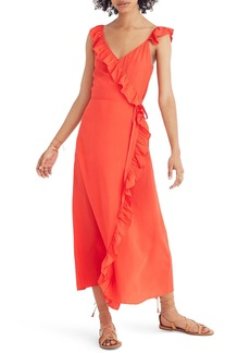 Madewell Ruffle Faux Wrap Maxi Dress
