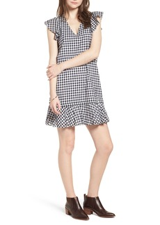 Madewell Ruffle Gingham Shift