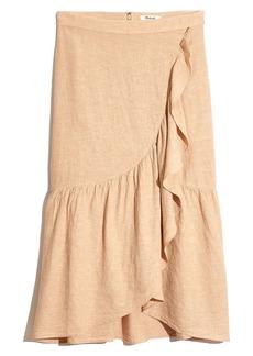 Madewell Ruffle Midi Skirt