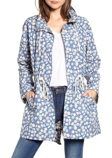 Madewell Ruffle Neck French Floral Raincoat