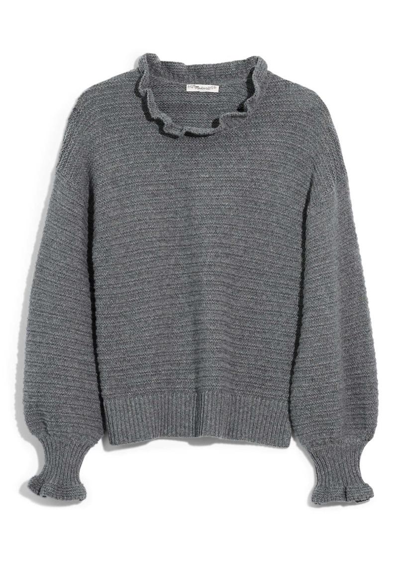 Madewell Ruffle Neck Sweater