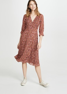Madewell Long Sleeve Crossover Midi Dress