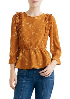 Madewell Ruffle Shoulder Peplum Top