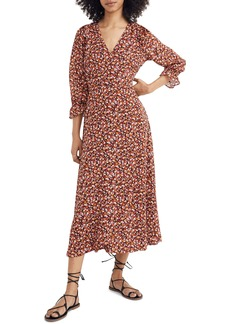 Madewell Ruffle Sleeve Crossover Midi Dress