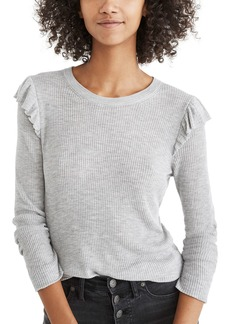 Madewell Ruffle Sleeve Pullover Sweater