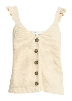 Madewell Ruffle Strap Button Front Sweater Tank