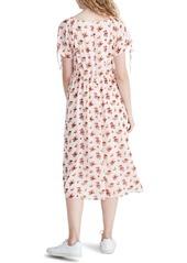 Madewell Ruffle Waist Tie Sleeve Midi Dress