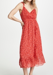 Madewell Ruffle Strap Wrap Dress