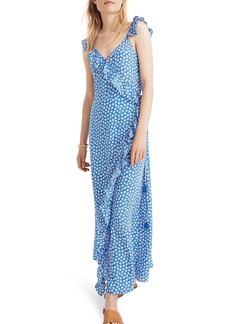 Madewell Ruffle Wrap Maxi Dress