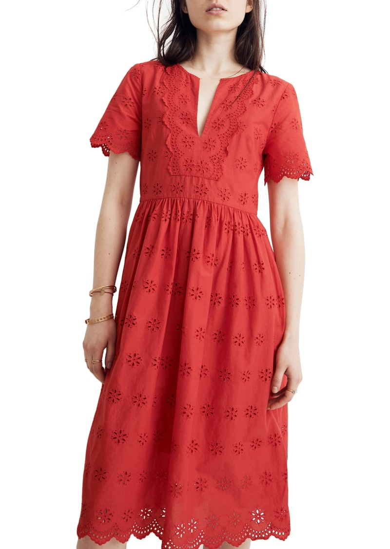 Madewell Scallop Eyelet Dress