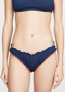Madewell Scrunch Ruffle Trim Bikini Bottoms