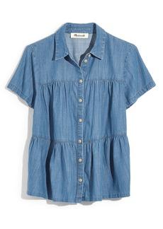 Madewell Seamed Button Down Denim Shirt