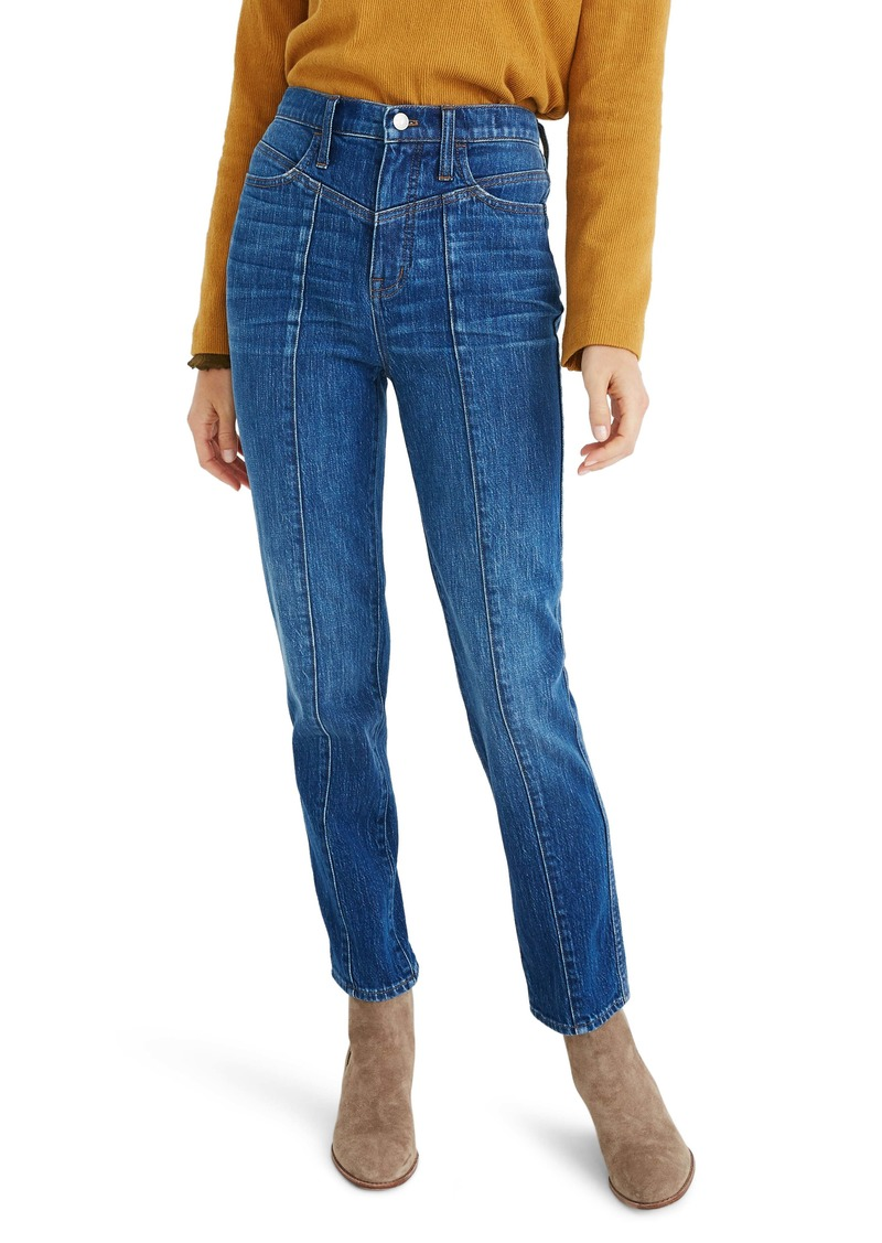 Madewell Seamed Classic Straight Jeans (Bandry)