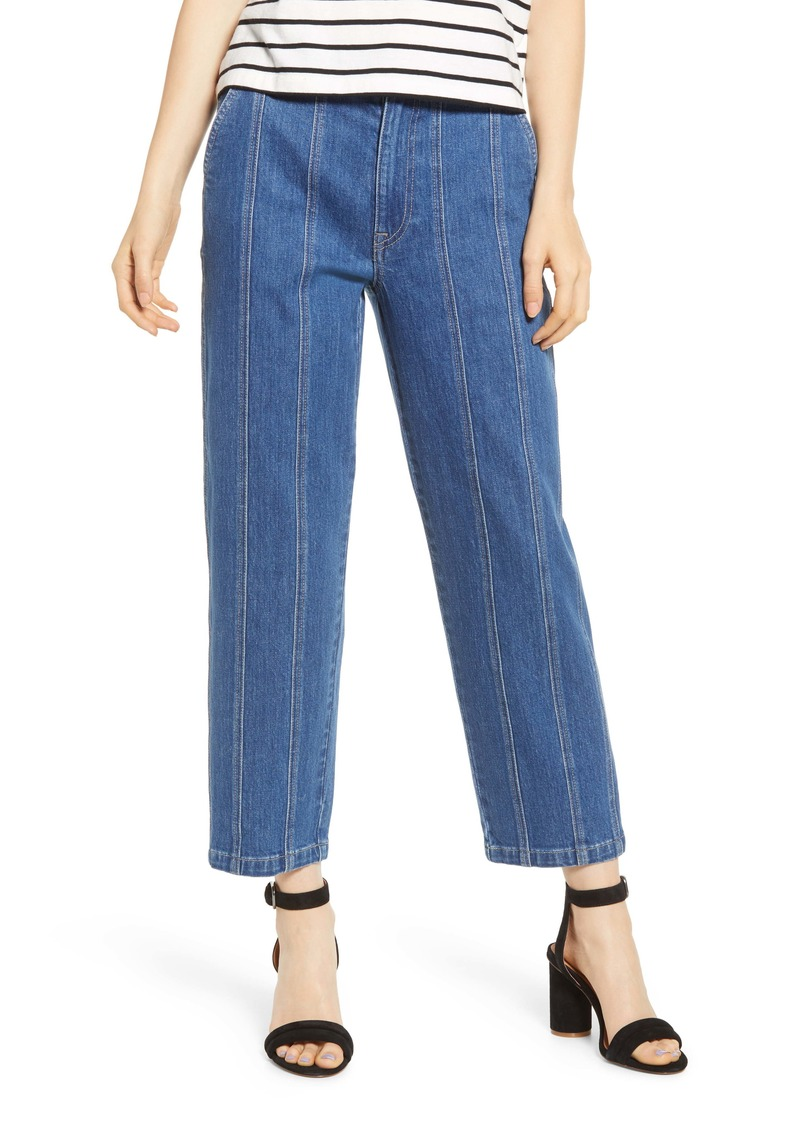 Madewell Seamed Edition Tapered Jeans (Fernhill Wash)