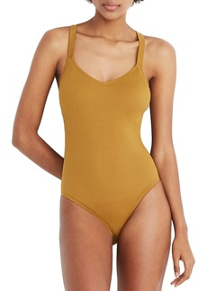 Madewell Second Wave Crisscross One-Piece Swimsuit