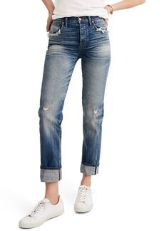 Madewell Selvedge Distressed Straight Leg Jeans (Cloverdale)
