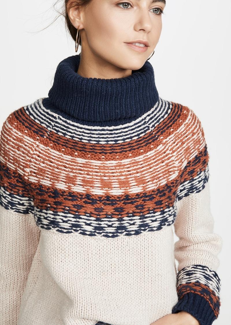 Madewell Brookdale Fair Isle Turtleneck Sweater