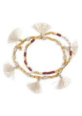Madewell Set of 2 Beaded Tassel Bracelets