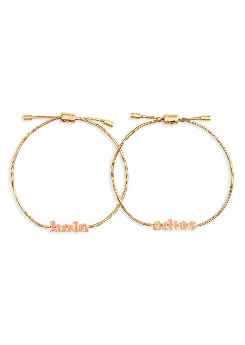 Madewell Set of 2 Friendship Bracelets