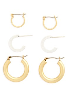 Madewell Set of 3 Mini Hoop Earrings